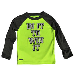 ♛5/$25♛ Athletic Thin Long Sleeve Shirt Neon 4T